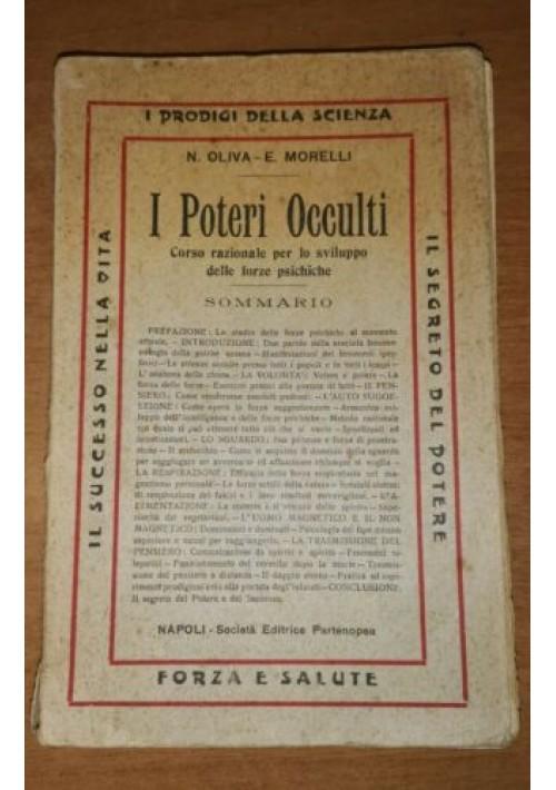 I POTERI OCCULTI OLIVA e MORELLI Esoterismo anni '10 Società Editrice Partenopea
