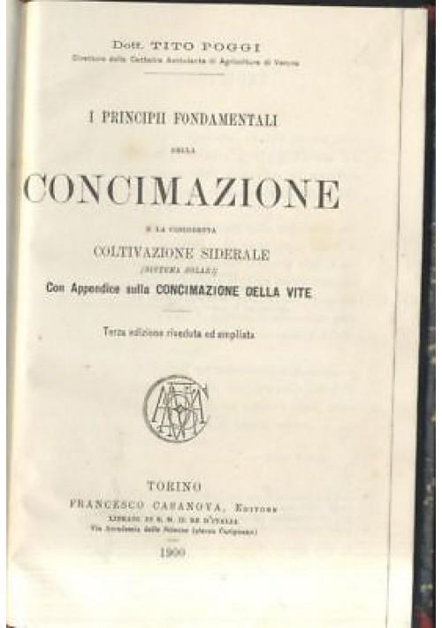 I PRINCIPII FONDAMENTALI DELLA CONCIMAZIONE di Tito Poggi 1900 Casanova