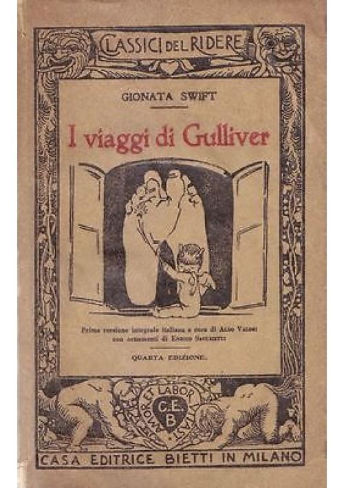 I VIAGGI DI GULLIVER di Gionata Swift 1939  Bietti Classici del ridere