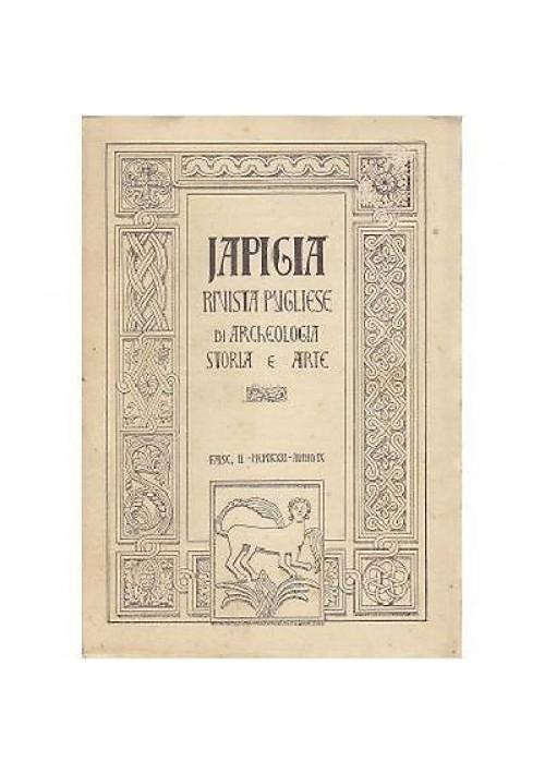 IAPIGIA  ANNO II FASCICOLO II - SET 1931 rivista di archeologia storia e arte