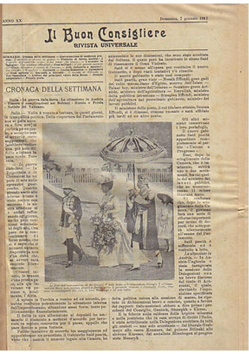 IL BUON CONSIGLIERE RIVISTA UNIVERSALE  annata completa 1912 - Armani e Stein