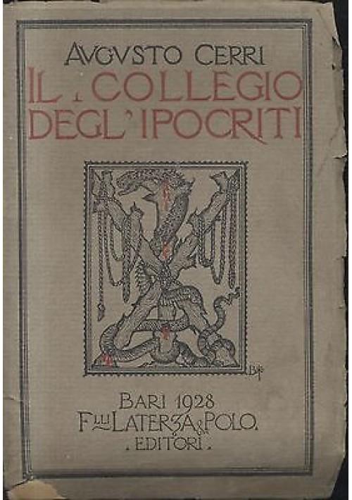 IL COLLEGIO DEGL'IPOCRITI di Augusto Cerri 1928   Laterza e Polo - inferno Dante