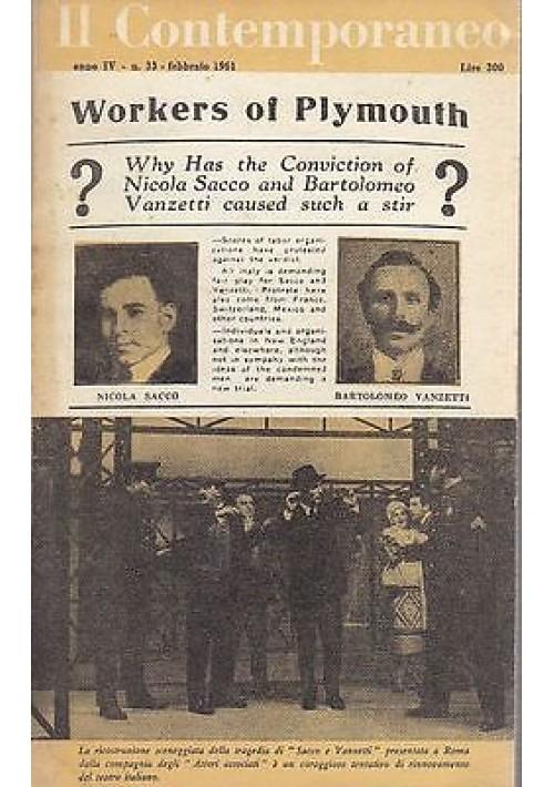 IL CONTEMPORANEO ANNO IV N.33 FEBBRAIO  1961 rivista