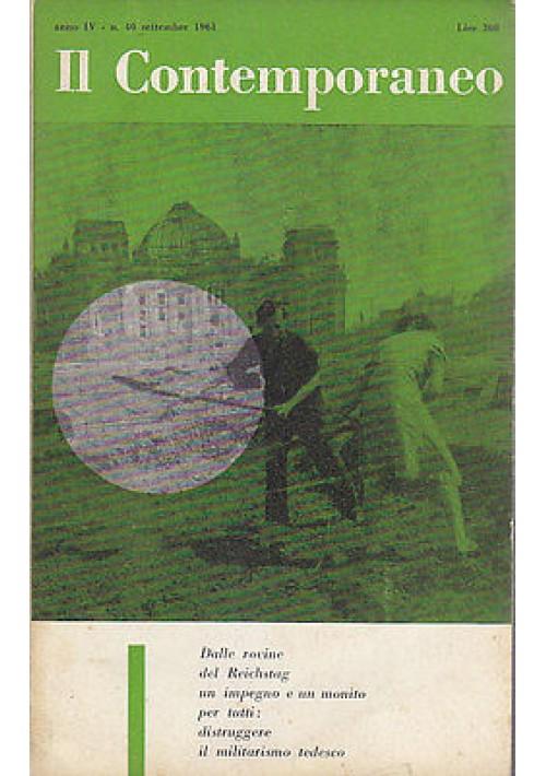 IL CONTEMPORANEO ANNO IV N.40 SETTEMBRE 1961 rivista