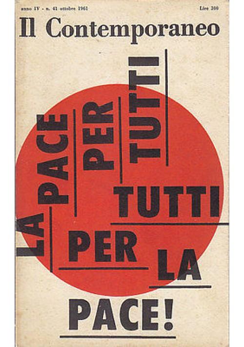 IL CONTEMPORANEO ANNO IV  N.41  OTTOBRE  1961 rivista