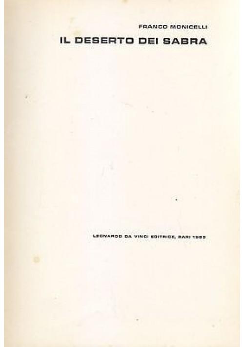 IL DESERTO DEI SABRA di Franco Monicelli 1963 Leonardo da Vinci Editrice