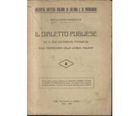 IL DIALETTO PUGLIESE di Gioacchino Gambatesa 1939 stab. tipogr. F. Casini Bari