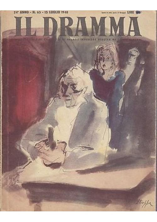 IL DRAMMA anno 24 n.65 - 15 luglio 1948 - RITRATTO D'AUTORE di Emlyn Williams