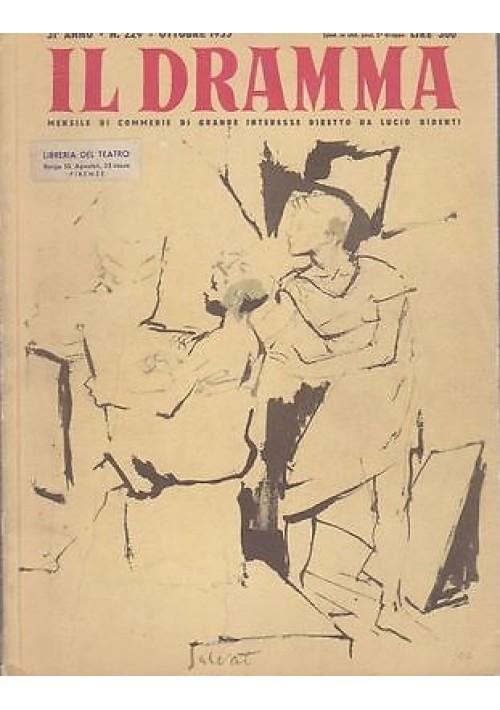 IL DRAMMA anno 31 n.229 - ottobre 1955 -  LA RAGAZZA E I SOLDATI i Gino Pugnetti