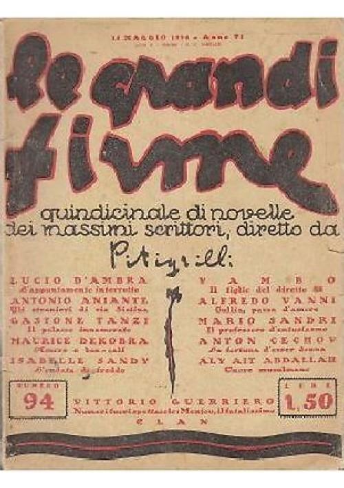 IL FIGLIO DEL DIRETTO 55 di Yambo Le grandi firme anno VI n 94  15 maggio 1928