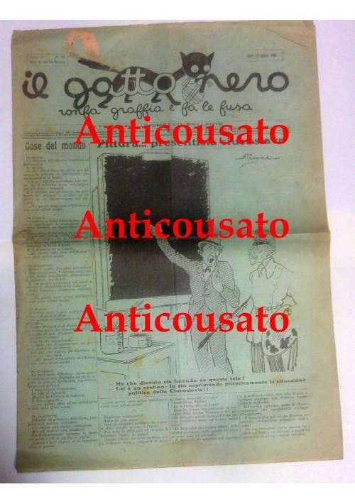IL GATTO NERO giornale settimanale pupazzettato umoristico BARI 12 agosto 1928