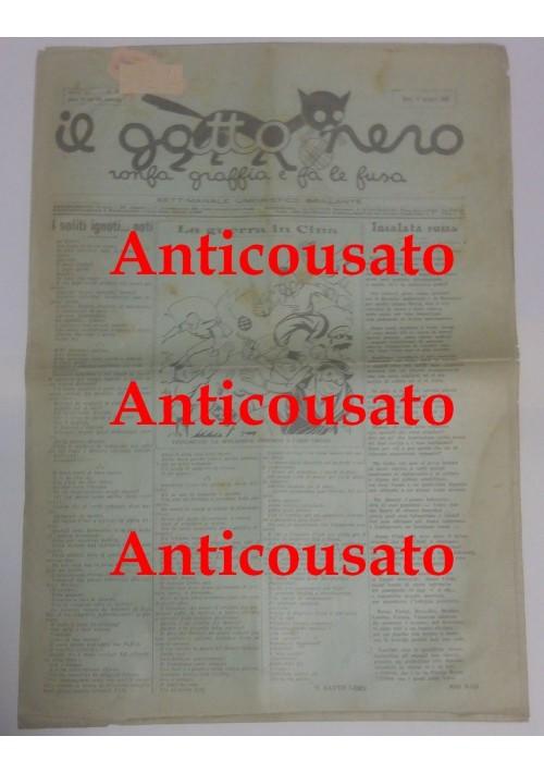 IL GATTO NERO giornale settimanale pupazzettato umoristico BARI 17 maggio 1928