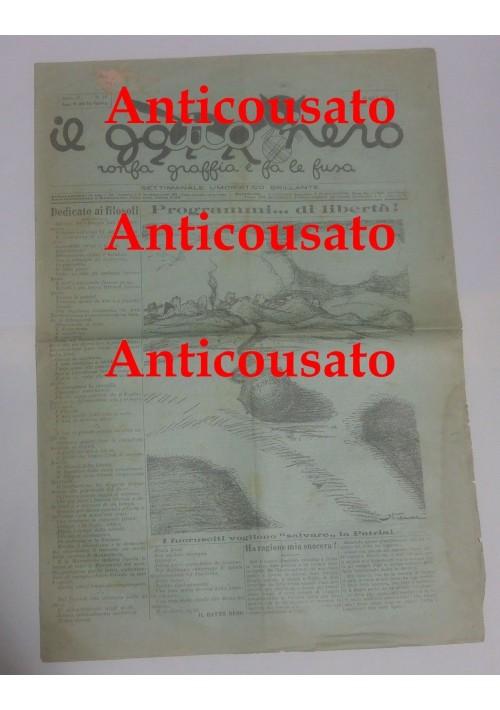 IL GATTO NERO giornale settimanale pupazzettato umoristico BARI 19 aprile 1928