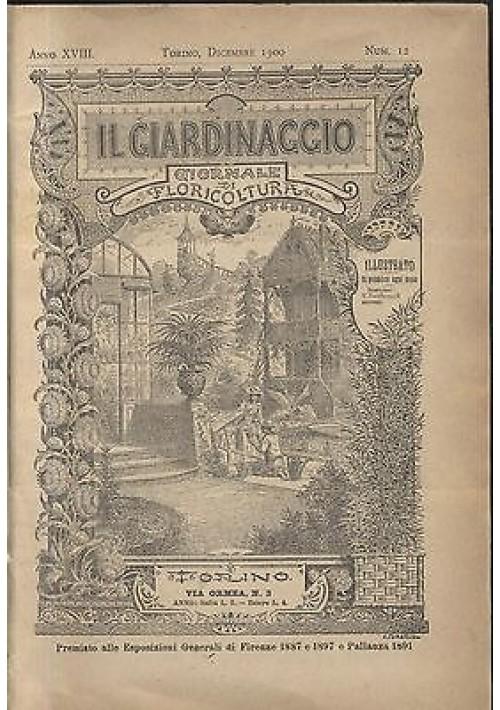 IL GIARDINAGGIO giornale di floricoltura dicembre 1900 a. XVIII n.12 ILLUSTRATO