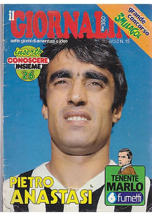 IL GIORNALINO 12 aprile 1980 PIETRO ANASTASI con poster SENZA inserto