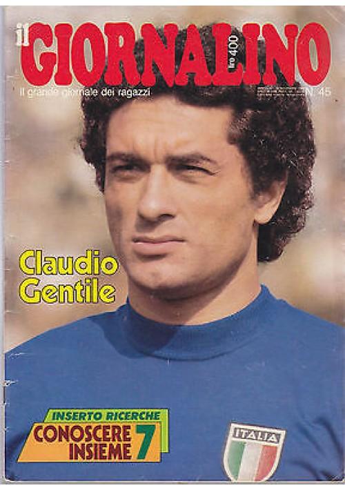 IL GIORNALINO 16 novembre 1980 CLAUDIO GENTILE con inserto e poster