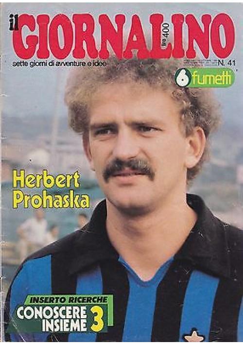 IL GIORNALINO 19 ottobre 1980 HERBERT PROHASKA con inserto e poster