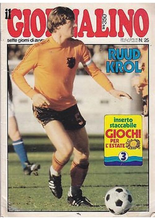 IL GIORNALINO 22 giugno 1980 RUUD KROL con inserto e poster