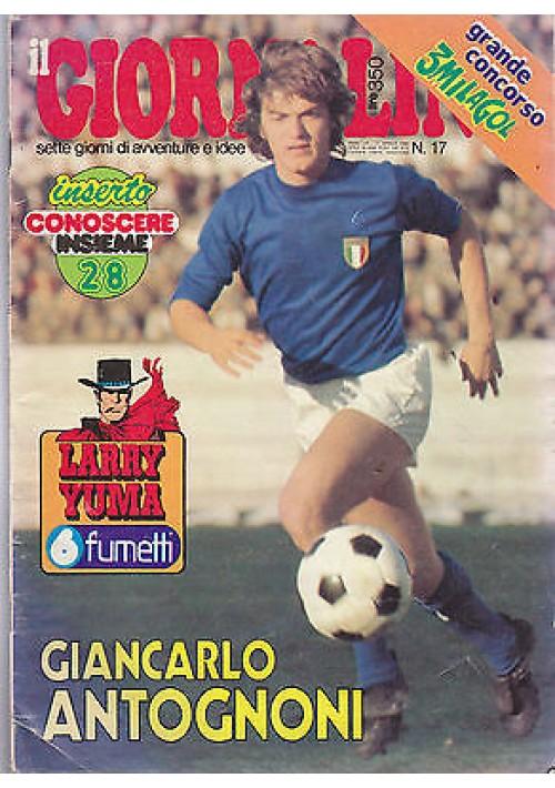 IL GIORNALINO 27 aprile 1980 GIANCARLO ANTOGNONI  con poster SENZA inserto