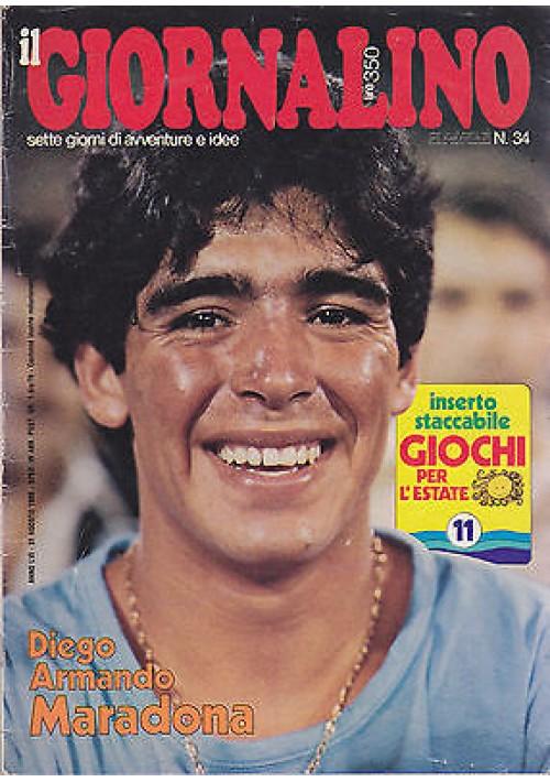 IL GIORNALINO 31 agosto 1983 DIEGO ARMANDO MARADONA con inserto e poster