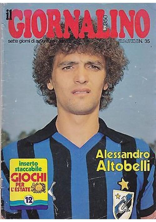 IL GIORNALINO 7 settembre 1980 ALESSANDRO ALTOBELLI  con inserto e poster