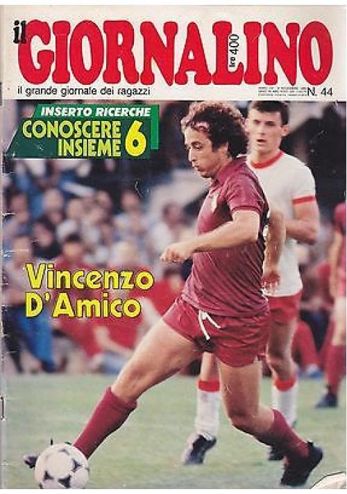 IL GIORNALINO 9 novembre 1980 VINCENZO D'AMICO  con inserto e poster