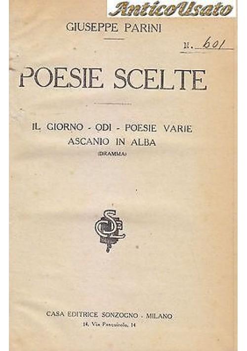 IL GIORNO ODI POESIE VARIE ASCANIO IN ALBA di Giuseppe Parini 1928? Sonzogno