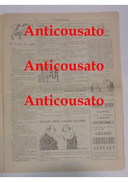 IL NUOVO CORRIERE settimanale pupazzettato BARI 14 settembre 1925 umoristico