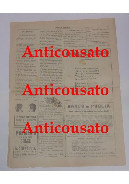 IL NUOVO CORRIERE settimanale pupazzettato BARI 27 settembre 1925 umoristico