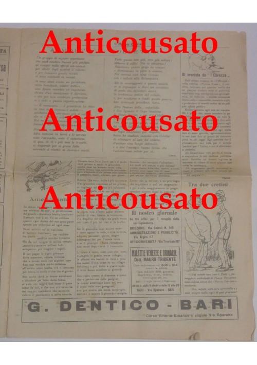 IL NUOVO CORRIERE settimanale pupazzettato BARI 30 agosto 1925 umoristico