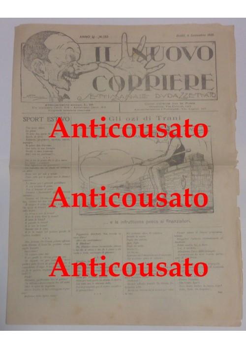 IL NUOVO CORRIERE settimanale pupazzettato BARI 6 settembre 1925 umoristico