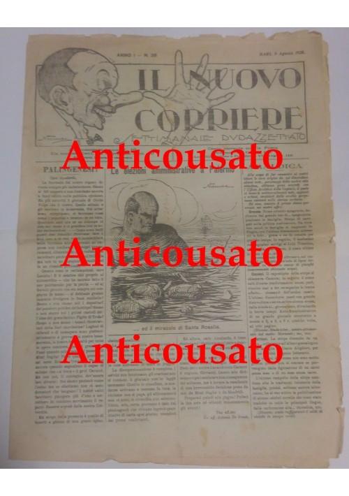 IL NUOVO CORRIERE settimanale pupazzettato BARI 9 agosto 1925 umoristico