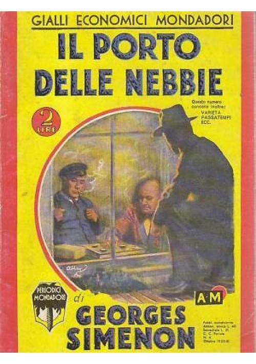 IL PORTO DELLE NEBBIE (ristampa anastatica) di Simenon