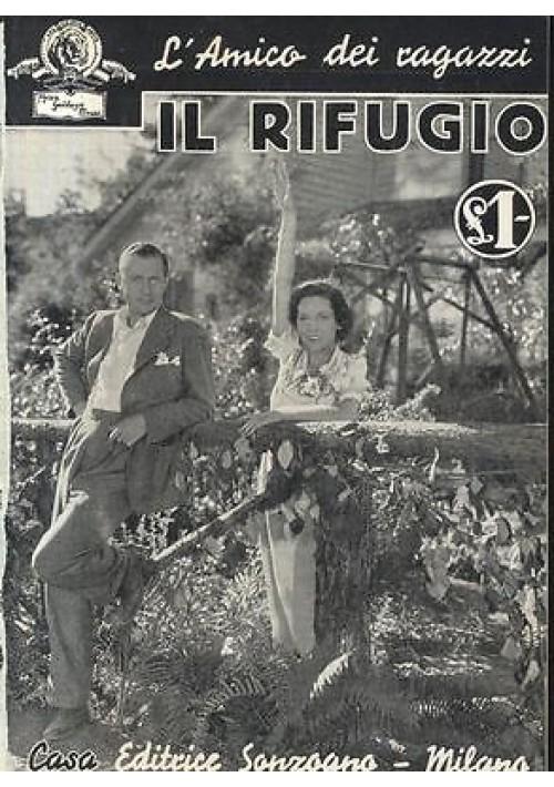 IL RIFUGIO con foto tratte dal film MGM 1936 Sonzogno racconto cinematografico
