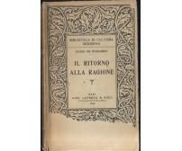 IL RITORNO ALLA RAGIONE Guido De Ruggiero 1946 Laterza