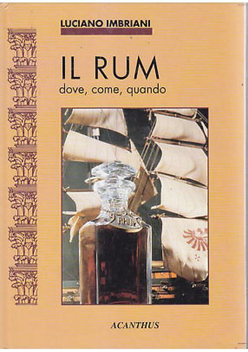 IL RUM dove come quando di Luciano Imbriani Acanthus editore. 1993.  95 Pagine,