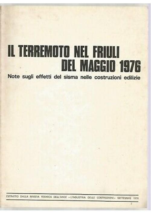 IL TERREMOTO NEL FRIULI DEL MAGGIO 1976 note effetti sisma costruzioni edilizie