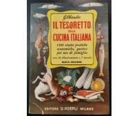 IL TESORETTO DELLA CUCINA ITALIANA 1500 ricette pratiche 1986 Hoepli libro