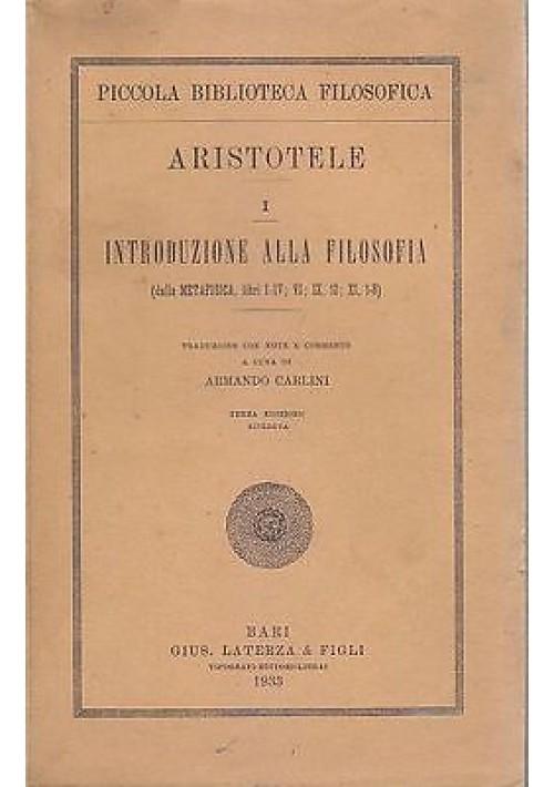 INTRODUZIONE ALLA FILOSOFIA da Metafisica libri I-IV VI IX 10 XI1 8 Aristotele