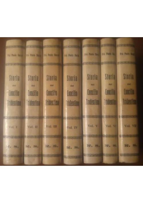 ISTORIA DEL CONCILIO TRIDENTINO Fra Paolo Sarpi 7 volumi COMPLETO 1835 Borella