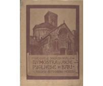 IV MOSTRA DI ARTE PUGLIESE BARI agosto settembre 1924 CATALOGO Laterza Puglia