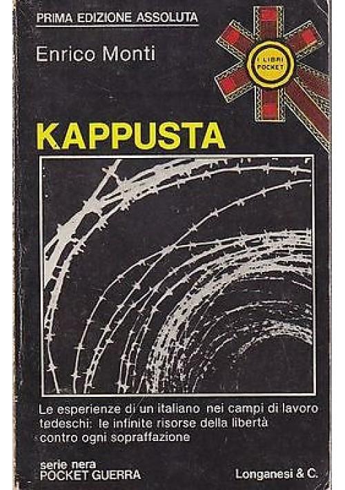 KAPPUSTA di Enrico Monti - Longanesi  collana pocket  1975