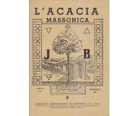 L ACACIA MASSONICA rivista mensile illustrata Anno III n. 7 settembre 1949 massoneria