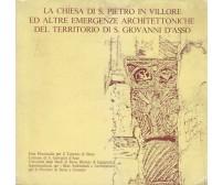 LA CHIESA DI SAN PIETRO IN VILLORE emergenze asan Giovanni d'Asso 1981 Siena