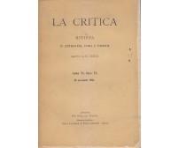LA CRITICA rivista letteratura storia e filosofia diretta Benedetto Croce 1908