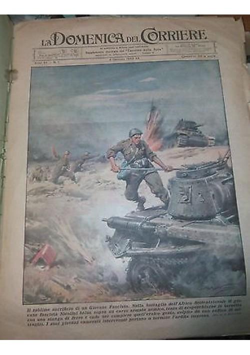 LA DOMENICA DEL CORRIERE 04/01//1942 fascista Nicolini ORIGINALE D'EPOCA