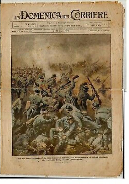 LA DOMENICA DEL CORRIERE 09 giugno 1918 Alpini cima Zagolon alleati Francia