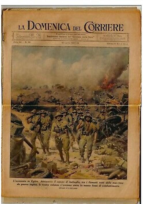 LA DOMENICA DEL CORRIERE 12/07/1942 avanzata in Egitto - fronte orientale