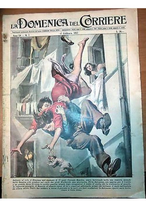 LA DOMENICA DEL CORRIERE 17/02/1957 Siracusa - rapina tabaccaio ORIGINALE