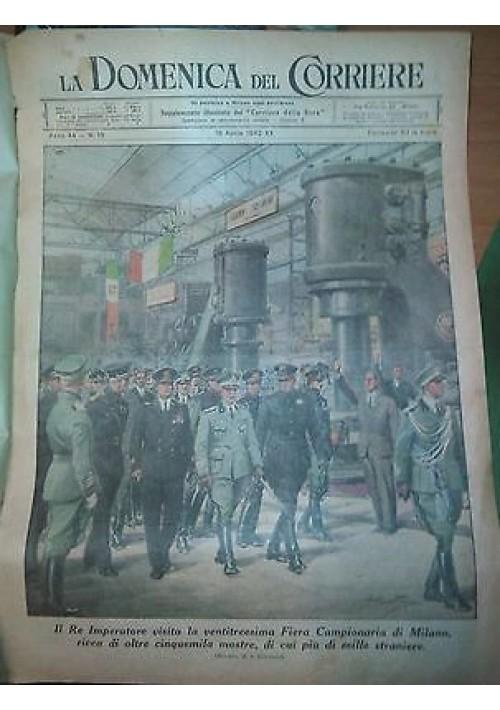 LA DOMENICA DEL CORRIERE 19/04/1942 Fiera di Milano  ORIGINALE D'EPOCA